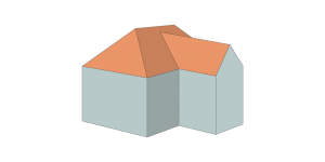 Hip-roof-T-shape