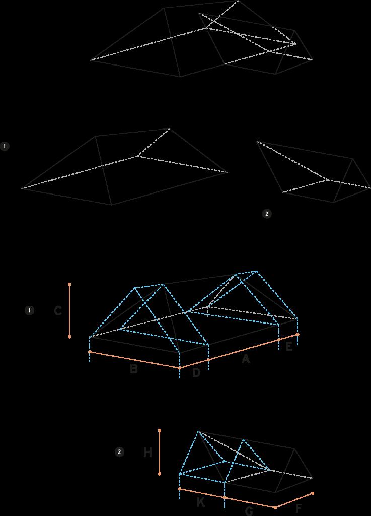 Hip-roof-T-shape