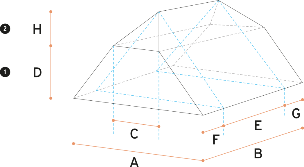 Half Hip Roof Roof Volumes Calculator