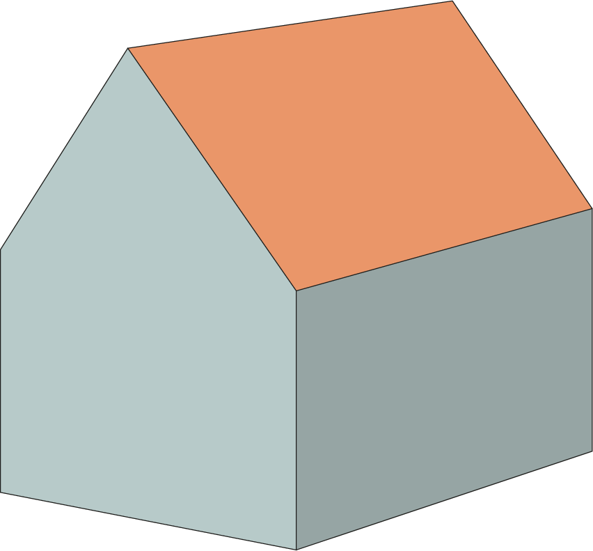 calculate content of gable-roof